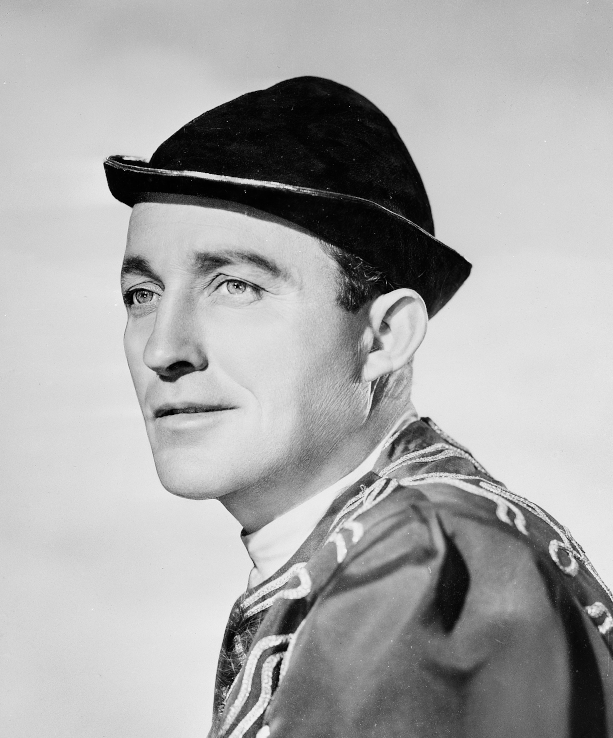 Photo of Bing Crosby in the movie A Connecticut Yankee in King Arthur's Court from 1949