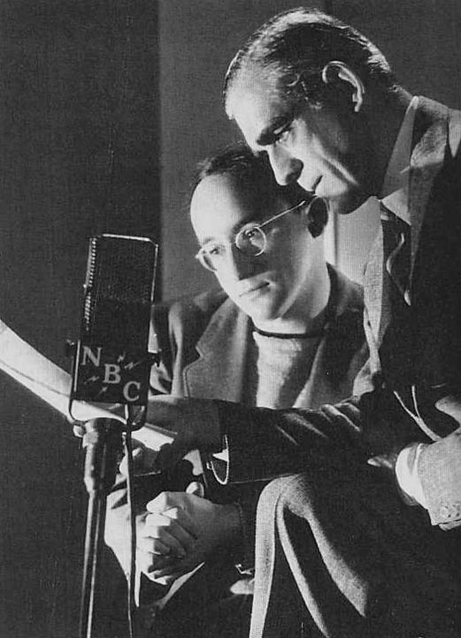 Boris Karloff and Arch Oboler on the Lights Out old-time radio program