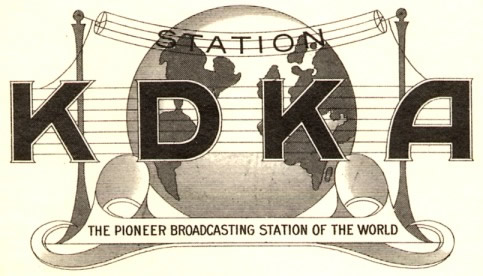 Logo of Pittsburgh radio station KDKA in the 1920s