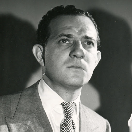 Photo of Mandel Kramer when he appeared on CounterSpy radio series