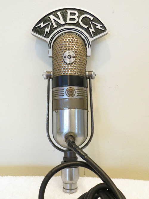 NBC radio network microphone made by RCA